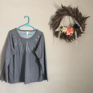 light weight fun grey sweater